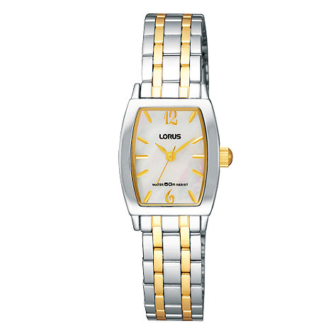 Lorus - Ladies mother of pearl dial with two tone bracelet watch