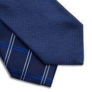 Pack of two navy textured satin ties