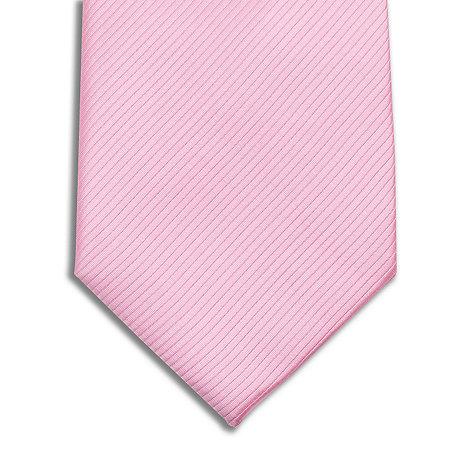 Jeff Banks - Designer pink silk rib tie