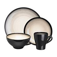 Dark grey 'Shade' sixteen piece dinner set