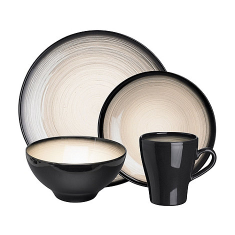RJR.John Rocha - Dark grey +Shade+ sixteen piece dinner set