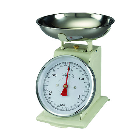 Debenhams - Plastic and metal funky cream scale