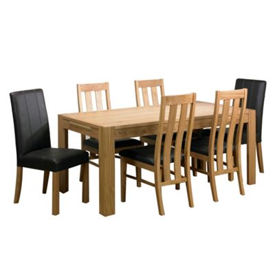 Debenhams Light Oak Tate Double Extending Dining Table Set Review Compare Prices Buy Online