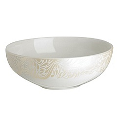 Denby - Cream 'Monsoon Lucille Gold' cereal bowl