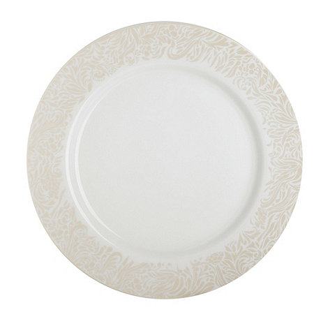 Denby - Cream +Monsoon Lucille Gold+ salad plate