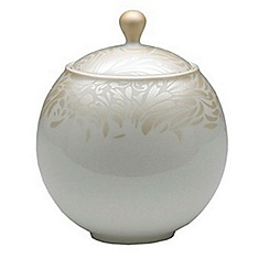 Denby - Cream glazed 'Monsoon Lucille' sugar bowl with lid