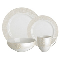 Denby - Cream glazed 'Monsoon Lucille' 16 piece dinnerware set