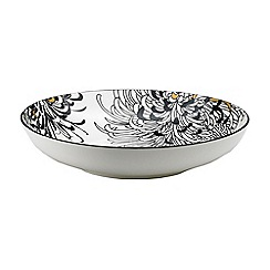 Denby - Cream glazed 'Monsoon Chrysanthemum' pasta bowl