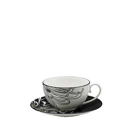 Denby - Glazed +Monsoon Chrysanthemum+ tea cup and saucer set
