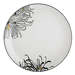 Denby - Glazed 'Monsoon Chrysanthemum' dinner plate