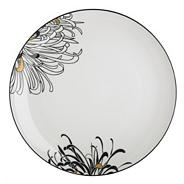 Glazed 'Monsoon Chrysanthemum' dinner plate