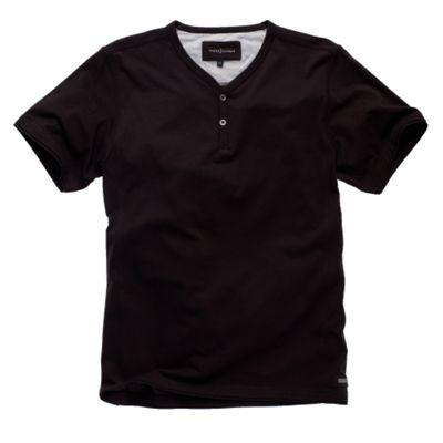 t shirts plain. Black Plain Y-neck T-shirt