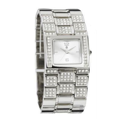 EB by Erickson Beamon Women's silver diamante embellished watch