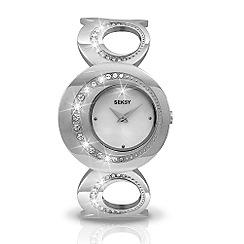 Seksy - Ladies diamante hoop dial with bracelet watch