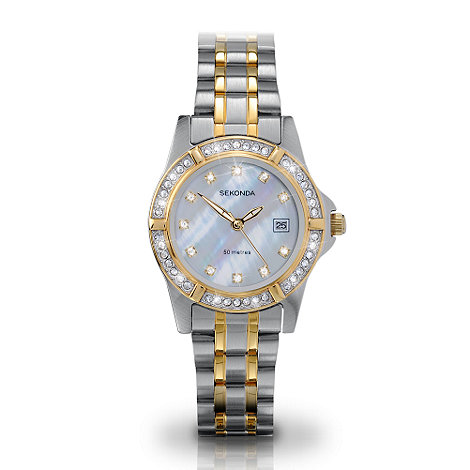 Sekonda - Ladies  Twilight Pearl  quartz analogue two tone dress watch 4174.27
