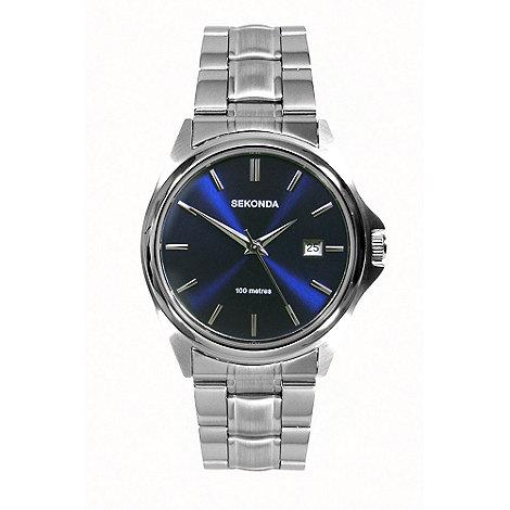 Sekonda - Men+s blue sunray dial bracelet watch