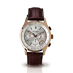 Sekonda - Men's brown leather strap chronogrpah watch