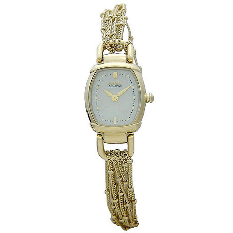 Citizen - Ladies gold coloured multi chain watch