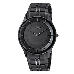 Citizen - Men's black round dial watch
