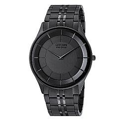 Citizen - Men's black round dial watch
