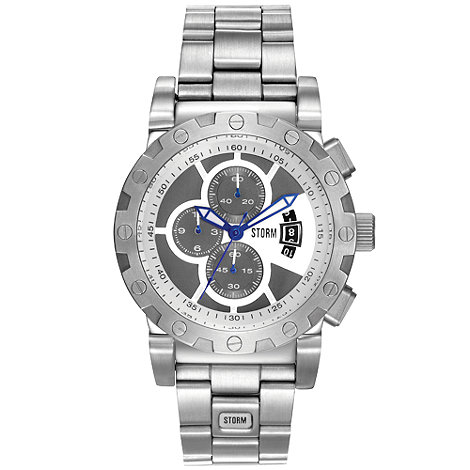 STORM London - Men+s silver coloured chronograph watch