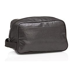 Red Herring - Brown zip around wash bag
