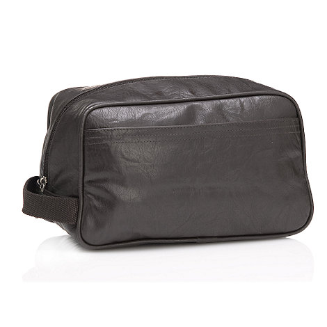 Red Herring - Brown zip around wash bag
