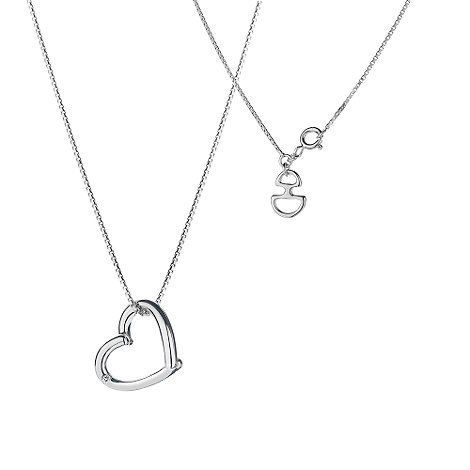 Hot Diamonds - Sterling silver open heart pendant