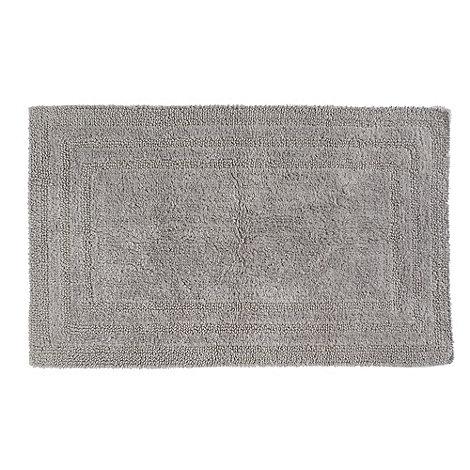 Debenhams - Silver luxury reversible bath mat
