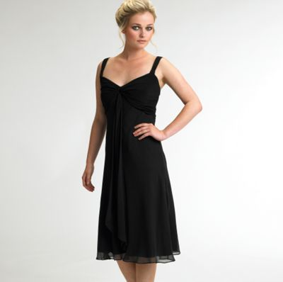 Black silk and jersey dress