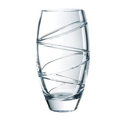 Jasper Conran at Waterford Crystal - 14 inch 'Aura' 24% lead crystal round vase