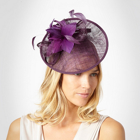 Debut - Purple flower & bow fascinator