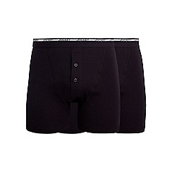 Jockey - Pack of two black boxers