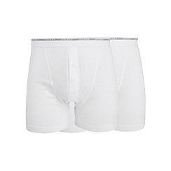 Jockey - Big and tall pack of two white boxers