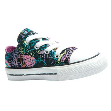 Converse Black 'Print' ox trainers