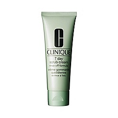 Clinique - '7 Day' rinse-off formula scrub cream 100ml