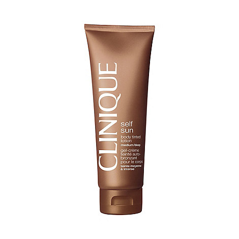 Clinique - +Self Sun+ medium and deep body tinted lotion 125ml