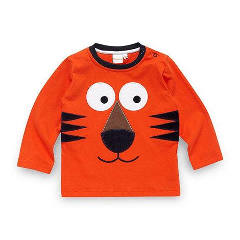 bluezoo - Babies orange applique tiger top