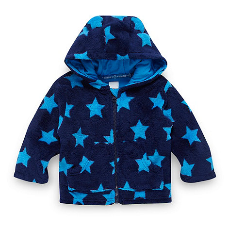 bluezoo - Babies navy star patterned fleece jacket