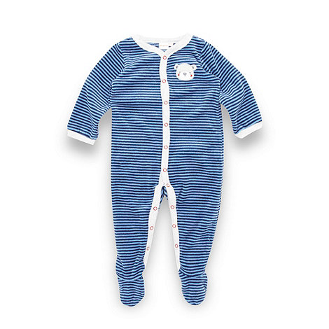 bluezoo - Babies blue stripe romper