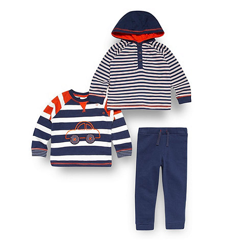 bluezoo - Baby boys blue tops and jogging bottoms set