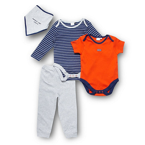 bluezoo - Babies pack of two bodysuits, bib and jogging bottoms