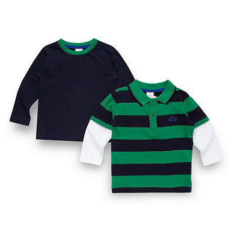 bluezoo - Babies navy striped polo shirt and t-shirt