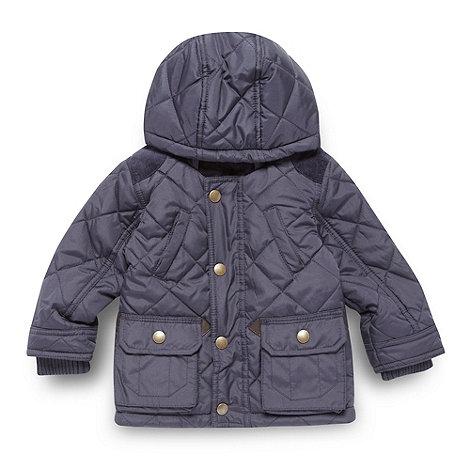 J by Jasper Conran - Designer babies navy quilted coat
