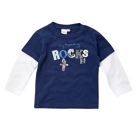 bluezoo - Babies navy +My mummy rocks+ top
