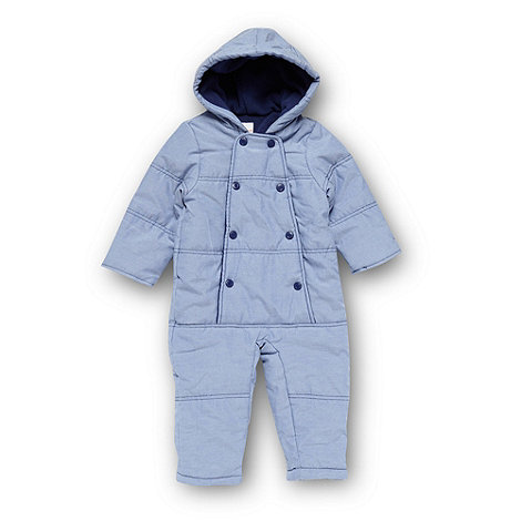 bluezoo - Babies blue chambray snowsuit