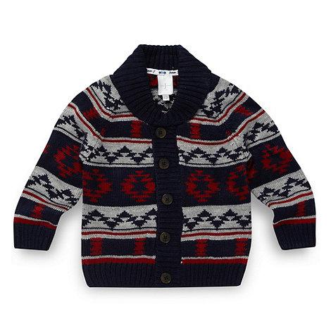 J by Jasper Conran - Designer babies navy aztec knit cardigan