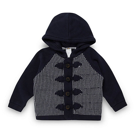 J by Jasper Conran - Designer babies navy hooded cardigan
