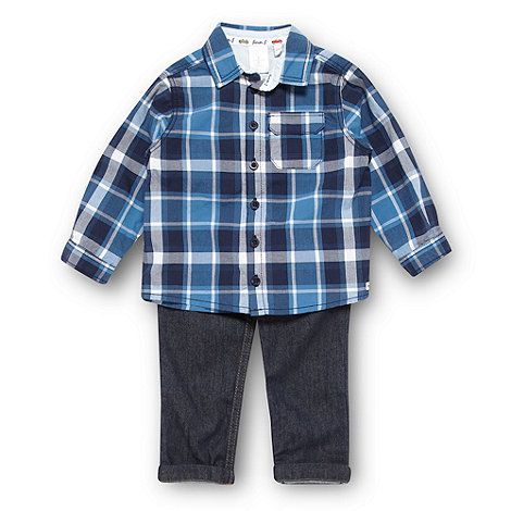 J by Jasper Conran - Designer babies blue shirt and jeans set