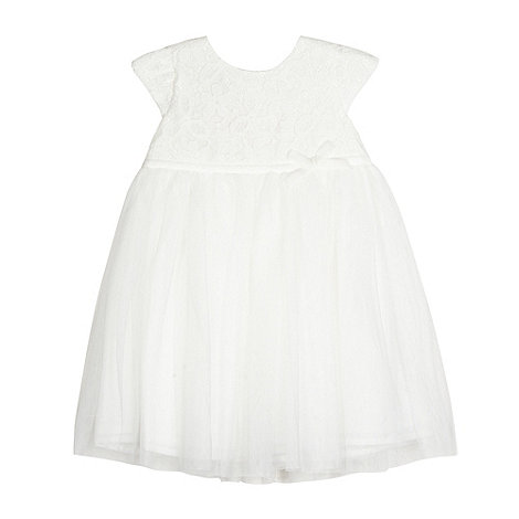 RJR.John Rocha - Baby girls+ cream lace party dress